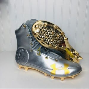 Under Armour Football Cleats  SILVER GOLD